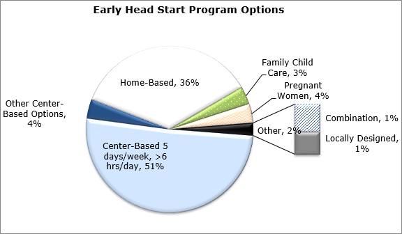 Gráfico circular - Opciones del programa Early Head Start