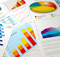Colorful charts and graphs.