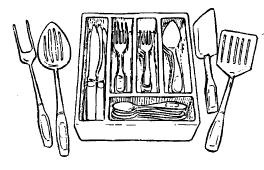 dinnerware, utensils