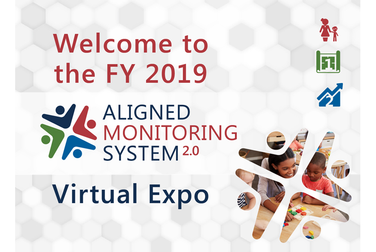 Welcome to the FY 2019 Aligned Monitoring Systems 2.0 Virtual Expo logo design