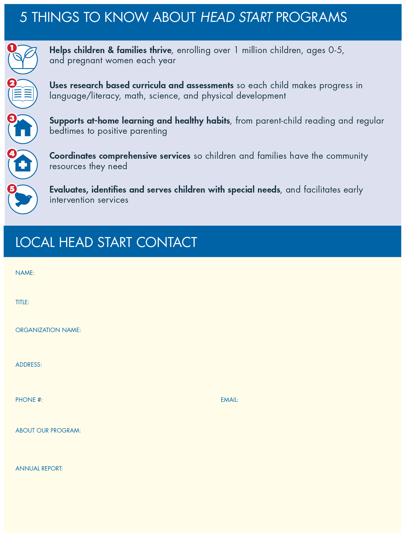 Infographic on Head Start Prepares Children for Your Classroom
