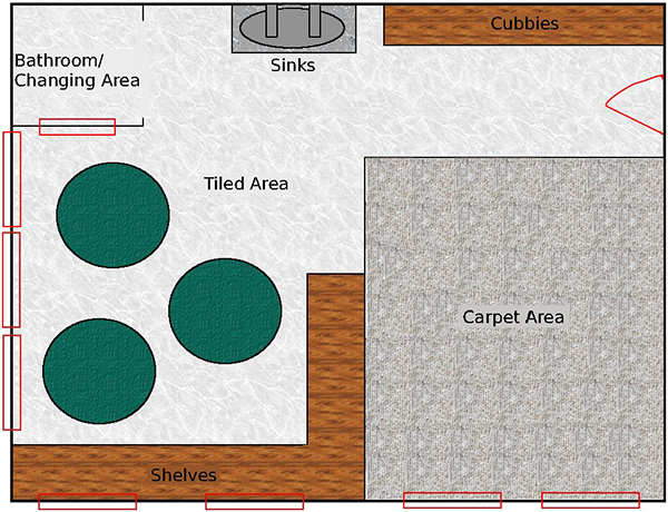 Potential layout of a playground area