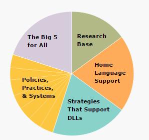 Planned language approach pie chart.
